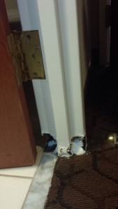 Custom Door Frame Repair – Before